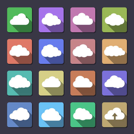 collection series: Cloud shapes collection. Flaticons series. Vector icons