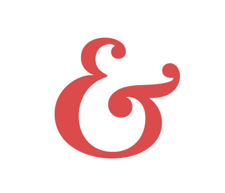 ligature: Custom ampersand symbol. Vector illustration