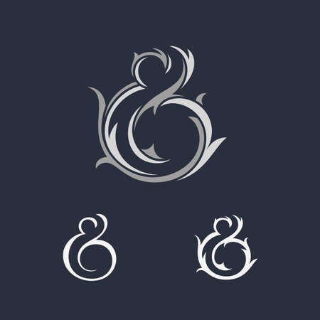 ligature: Custom ampersands collection. Vector illustration Illustration