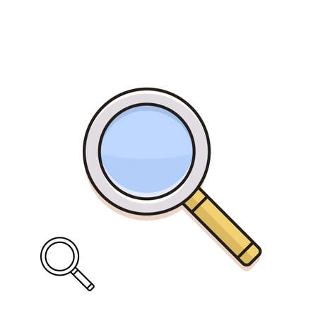 material: Magnifying glass. Material design vector icon