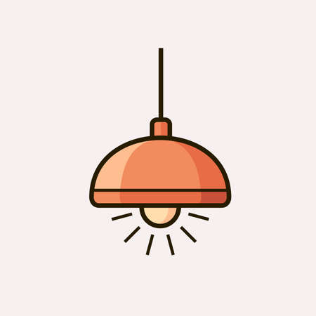fixture: Light fixture icon. Lamp. Vector illustration