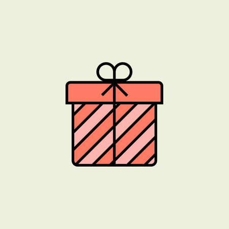 box: Christmas gift box icon. Vector icon. Linear style Illustration