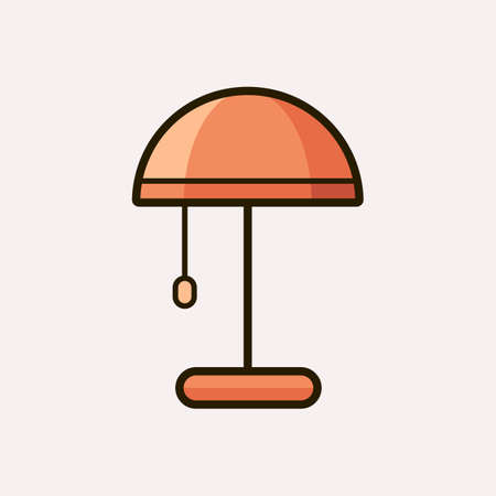 sconce: Light fixture icon. Vector illustration of lamp Illustration