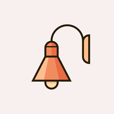 Light fixture icon. Vector illustration of lamp Illustration