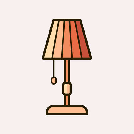 fixture: Light fixture icon. Vector illustration of lamp Illustration