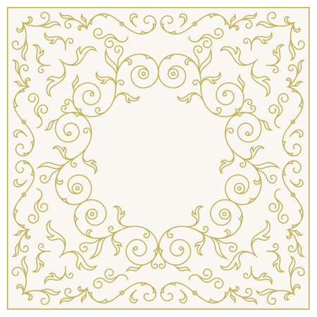 wedding  art: Frame for wedding invitation card template with floral ornaments. Vector illustration