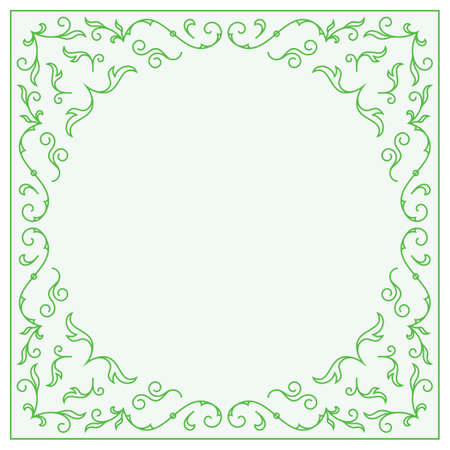 wedding frame: Frame for wedding invitation card template with floral ornaments. Vector illustration