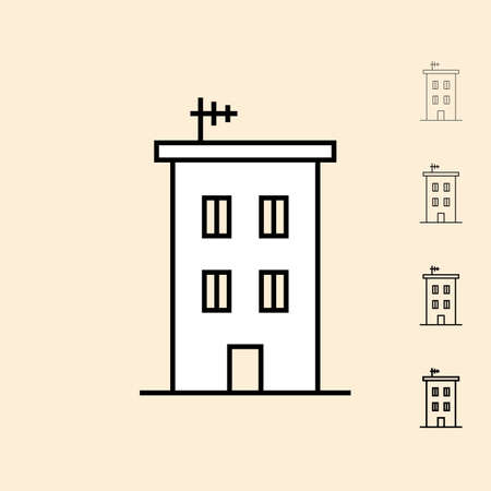 thickness: House icon. icon in four different thickness. Linear style