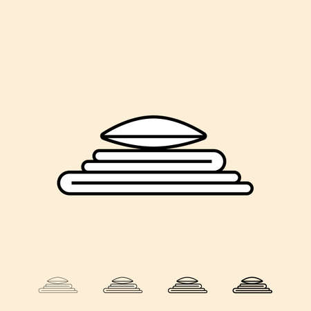 cushioned: Linen icon. icon in four different thickness. Linear style Illustration