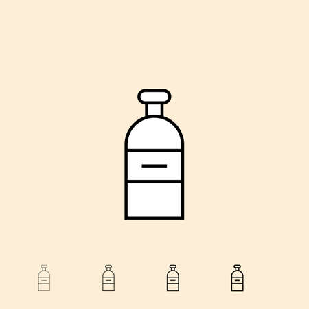 vial: Vial icon. icon in four different thickness. Linear style