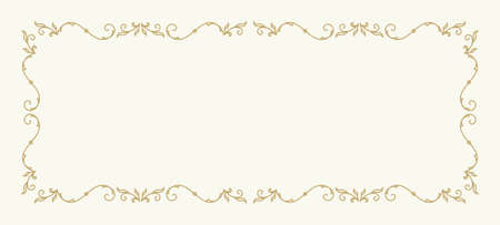 wedding frame: Frame for wedding invitation card template with floral ornaments.
