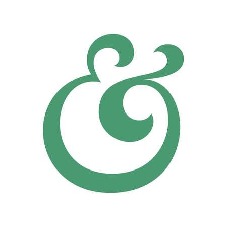 ligature: Custom ampersand for decoration.