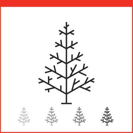 christmas icon: Christmas tree icon. Vector icon. Linear style