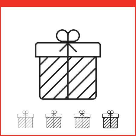 gift season: Christmas gift box icon. Vector icon. Linear style Illustration