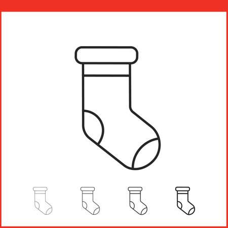 christmas stocking: Christmas stocking icon. Vector icon. Linear style Illustration