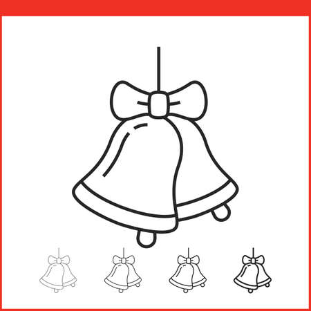 christmas icon: Christmas bells icon. Vector icon. Linear style