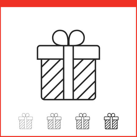 christmas gift: Christmas gift box icon. Vector icon. Linear style Illustration