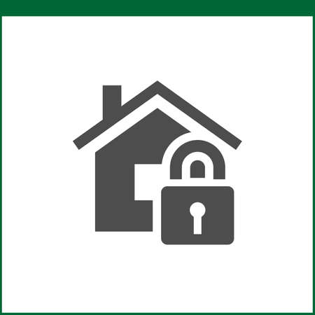 storm damage: Property insurance icon. Home protections and insurance risks. Vector icon