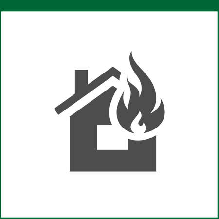 water damage: Property insurance icon. Home protections and insurance risks. Vector icon