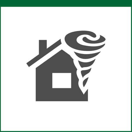 weather protection: Property insurance icon. Home protections and insurance risks. Vector icon