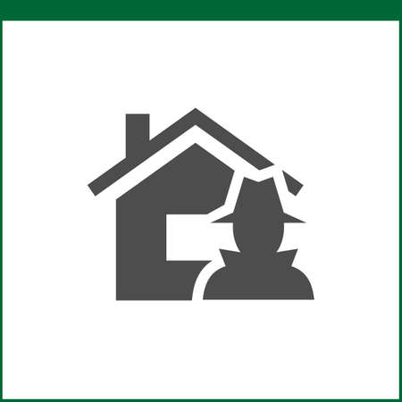 storm: Property insurance icon. Home protections and insurance risks. Vector icon