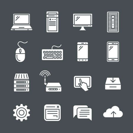 simplus: Simplus icons series. Network and mobile devices. Network connections