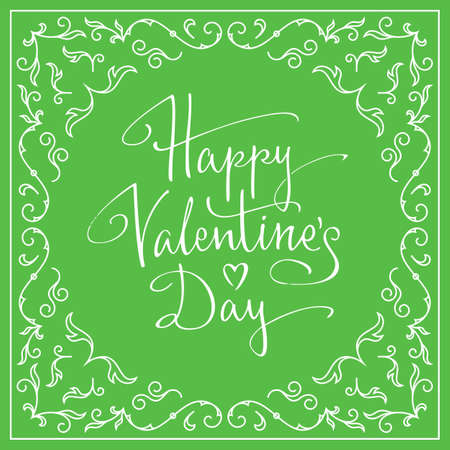 happy valentines: Happy Valentines Day Card. Vector illustration