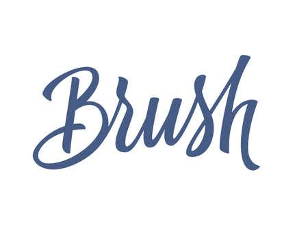 swash: Brush handwritten lettering. Vector illustration