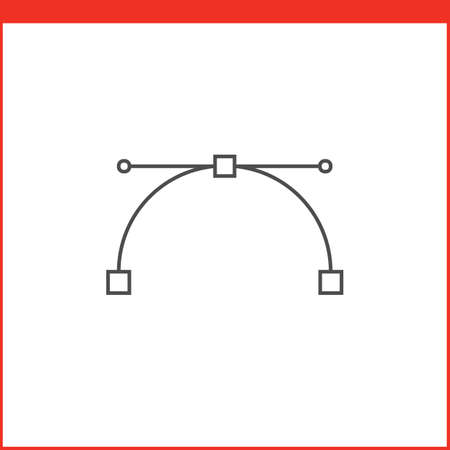 feature: Bezier curve tool icon. Vector graphics designer tool. Simple outlined vector icon in linear style