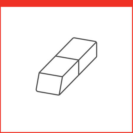 feature: Eraser tool icon. Vector graphics designer tool. Simple outlined vector icon in linear style
