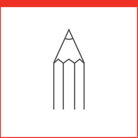 outlined: Pencil tool icon. Vector graphics designer tool. Simple outlined vector icon in linear style