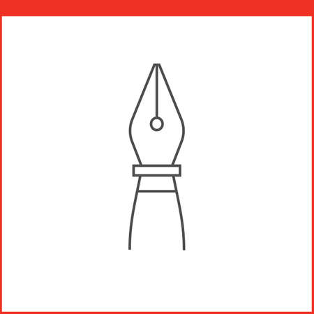 dip: Pen tool icon. Vector graphics designer tool. Simple outlined vector icon in linear style