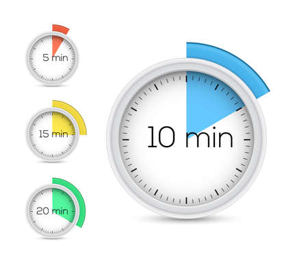 timekeeper: Collection of timers. Vector illustration