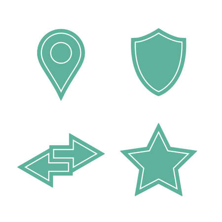 picker: Universal sticker icons set. Vector icons