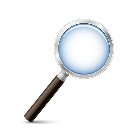 lupa: ilustración vectorial lupa. Buscar o alejar la imagen del icono del vector