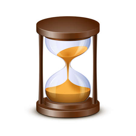 sand watch: Sand watch. Highly detailed vector illustration of hourglass