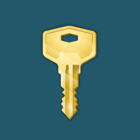 login icon: Real estate concept. Vector illustration of key Illustration