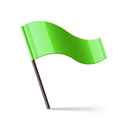 triangular: Vector illustration of green flag