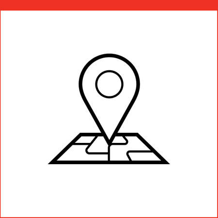 street symbols: Navigation pin pointer roadmap icon