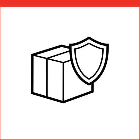 security company: Security of delivery icon. icon for logistic company
