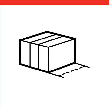 size: Size of package box icon. icon for logistic company