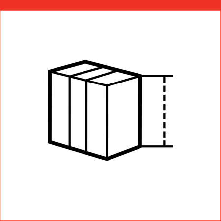 box size: Size of package box icon. icon for logistic company