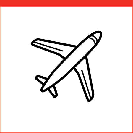postal service: Air mail icon. Air postal service. illustration