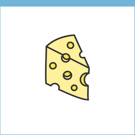 style: Cheese icon. Linear style