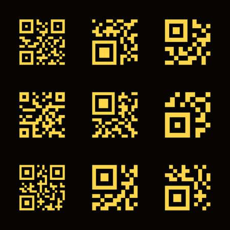 QR code icons. illustration