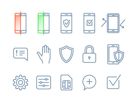 sms payment: Mobile security icons. icons mobile security app