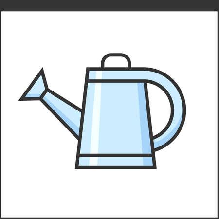 hand tool: Garden watering pot icon. Vector illustration of hand tool for gardeners Illustration