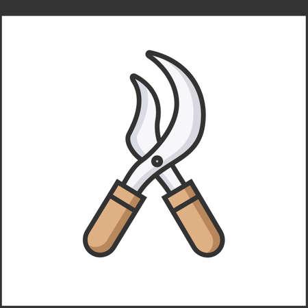 snipping: Garden secateurs icon. Vector illustration Illustration
