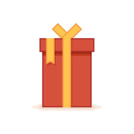 giftware: Flat gift box icon. Vector icon
