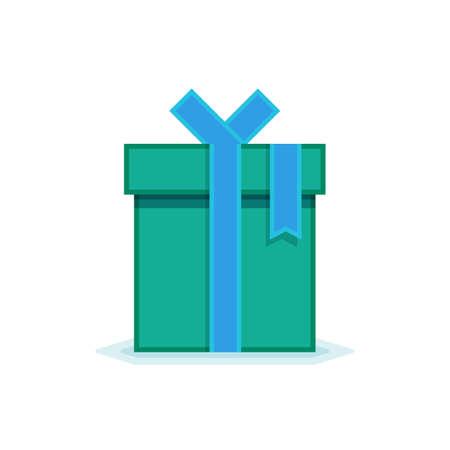 pledge: Flat gift box icon. Vector icon